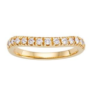 Charles & Colvard Created Moissanite 14k Yellow Gold Forever Brillant Moissanite Band Ring
