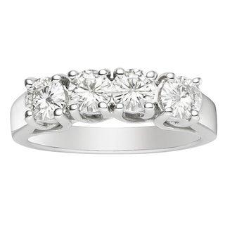 Charles and Colvard 14k White Gold Forever Brilliant 1/4ct TGW Moissanite Bridal Ring