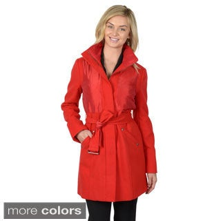 Journee Collection Women's Belted Trench Coat
