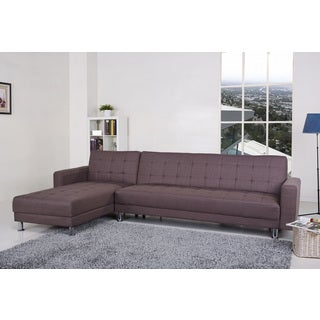 Frankfort Mocha Convertible Sectional Sofa Bed