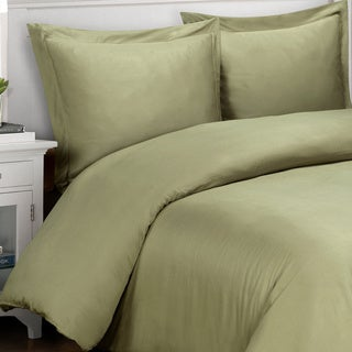 Luxor Treasures 500 Thread Count Solid Cotton 3-piece Duvet Cover Set
