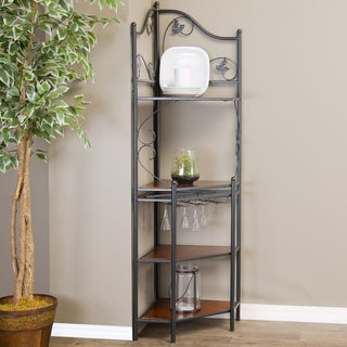 Pomona Low Wood and Metal Transitional Baker's Rack