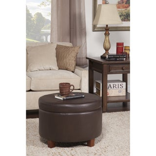 brown faux leather ottomans overstock shopping the
