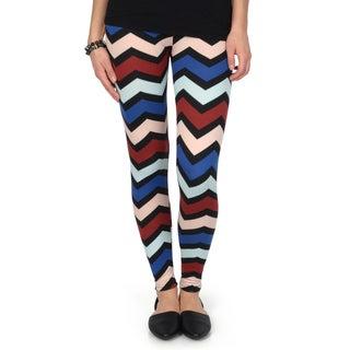 Hailey Jeans Co. Junior's Chevron Print Fleece Leggings