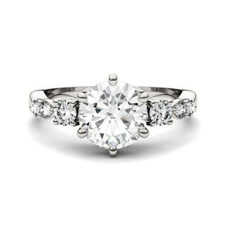 Charles and Colvard 14k White Gold 2.22 DEW Forever Brilliant Moissanite Ring