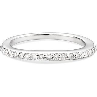 Charles & Colvard Sterling Silver 0.29 TGW Single Cut Classic Moissanite Shared Prong Band