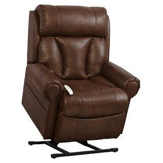 Mega Motion Upholstered Brown Lift Chair