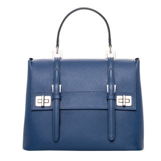 Prada Cobalt Saffiano Leather Satchel