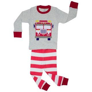 Elowel Boys Fire Truck 2-piece Pajama Set (Sizes 2T-8Y)