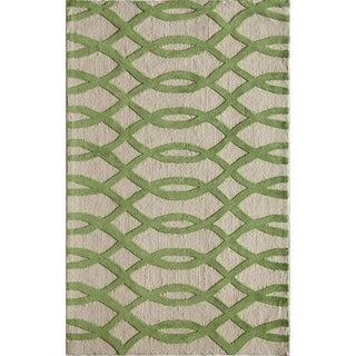 Amore Green Geometric Area Rug (8' x 10')