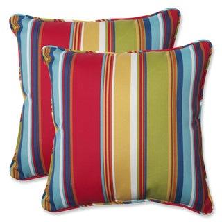 Pillow Perfect Outdoor Westport Garden 18.5-inch Throw Pillow (Set of 2)