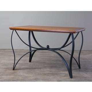 Valletta Wood and Metal Transitional Table