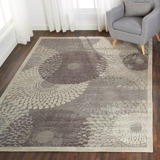 Nourison Graphic Illusions Grey Geometric Rug (5'3 x 7'5)