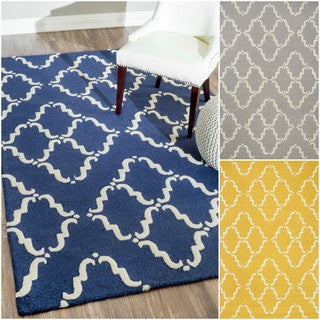 nuLOOM Handmade Modern Wool Trellis Rug (8'6 x 11'6)
