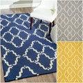 nuLOOM Handmade Modern Wool Trellis Rug (7'6 x 9'6)