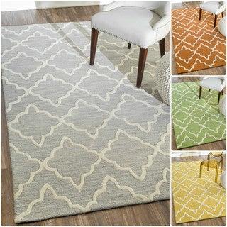 nuLOOM Handmade Modern Lattice Wool Rug (7'6 x 9'6)