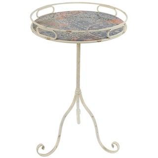 Findlay Vintage Peony Top Rustic End Table