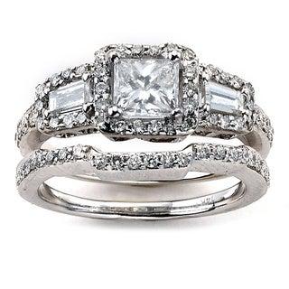 Diamonds For A Cure 14k White Gold Diamond Bridal Ring Set (G-H, SI1-SI2)