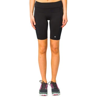 Lija Women's Black Mid-thigh Shorts