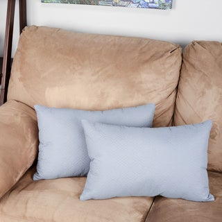 EDIE Microfiber Sonic Quilted Florentine Pillow (Set of 2)