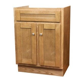 Oak Shaker Bathroom Vanity Base