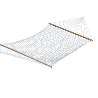 White Polyester Rope 60-inch Double Hammock