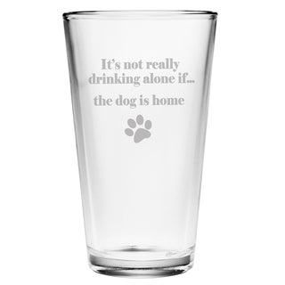 The Dog is Home 16-ounce Pint Glasses (Set of 4)