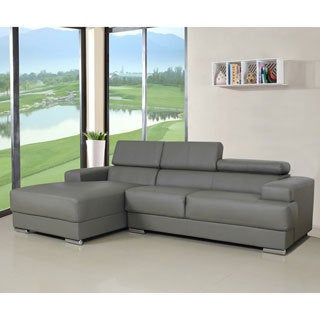 Gabriel Leather Contemporary Sectional Sofa Set