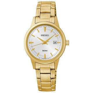 Seiko Women's SUR848 Stainless Steel Yellow Goldtone Watch