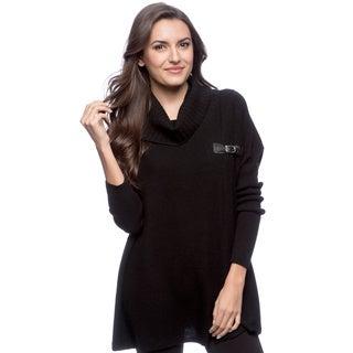 Ply Cashmere Black Turtleneck Pullover