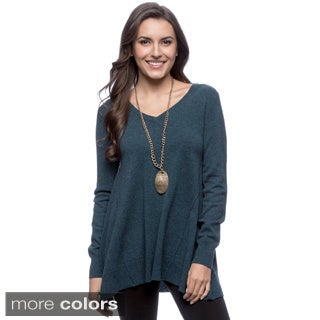 Ply Cashmere Women's Long Sleeve A-line Tunic
