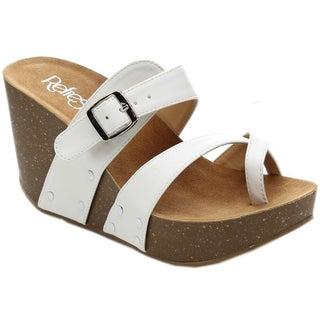 Refresh MARA-01 Women's Slide-on Criss Cross Platform Sandals