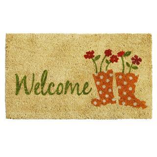 Rainboots Welcome Doormat (1'5 x 2'5)