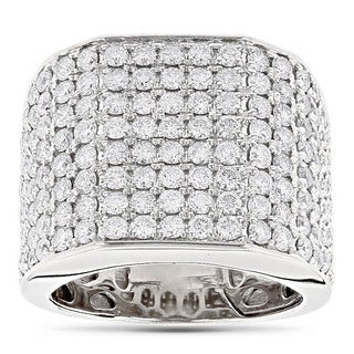 14k White Gold 4 1/2ct TDW Diamond Men's Ring (G-H, VS1-VS2)