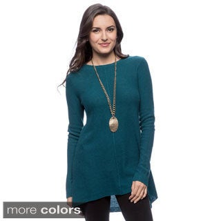 Chelsea & Theodore Women's High-low Pullover Cashmere Sweater