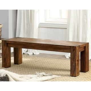 Furniture of America Clarks Farmhouse Style Kitchen Bench