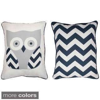 Thro Reversible Tootsie Owl Throw Pillow