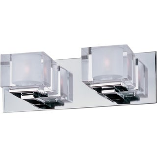 Chrome 2-light Cubic Bath Vanity Light