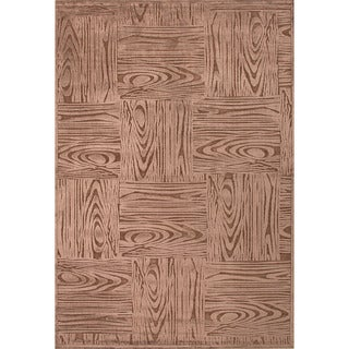 Machine Made Geometric Pattern Brown/Beige (9x12) - FB41 Area Rug