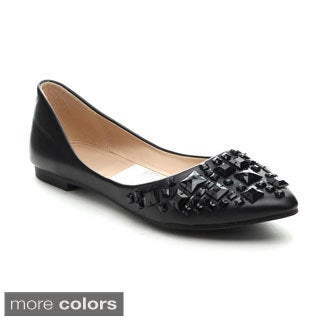 Refresh JULIA-75 Women's Rhinestone Slip-on Ballet Flats