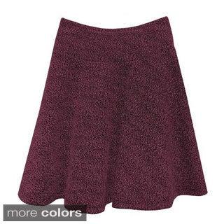 Baby'O Girl's Boucle Knit Drop Waist Skirt