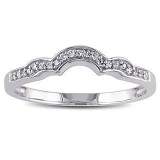 Haylee Jewels 10k White Gold 1/10ct TDW Diamond Wedding band (G-H, I2-I3)