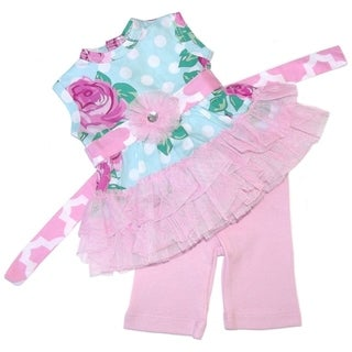 AnnLoren Rose Dot and Tulle Tunic Doll Outfit