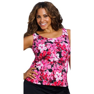 Beach Belle Women's Azalea Plus Size Tankini Top