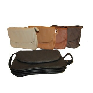 Continental Women's Leather Small Crossbody Accordion-style Shoulder Bag