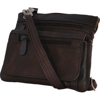 Continental Brown Leather Belt Loop Hook Detachable Shoulder Strap Bag
