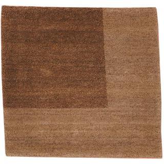 Herat Oriental Indo Tibetan Brown/ Gray Wool Rug (2' x 2')