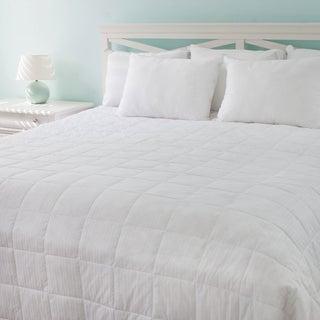 Tommy Bahama Oversized Primaloft Cotton Damask Stripe Blanket