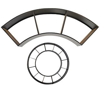 Madeline Modern Demilune Wall Shelf