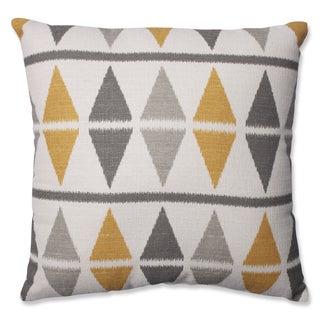 Pillow Perfect Ikat Argyle Birch Throw Pillow